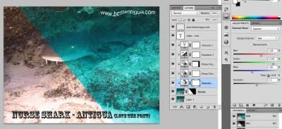 Colour correcting the Nurse Shark in Antigua