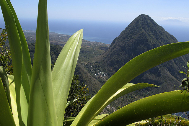 St lucia and the Grand Piton in the Caribbean