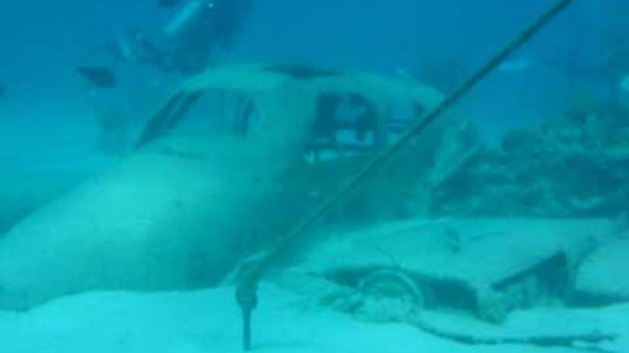 Plane Wreck at Nassau, Bahamas